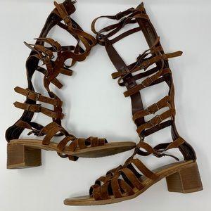Steve Madden Cerus gladiator tall sandal boots 7